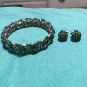 Matching bracelet and earrings set